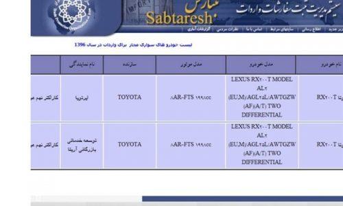 لیست خودروهای تویوتا از سایت ثبت سفارش حذف شد + عکس