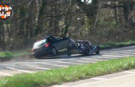 تصادف پژو 206 با خودرو کلاسیک مورگان…